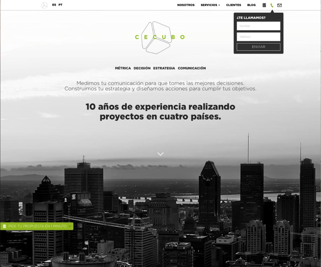 Cecubo Group presenta nueva página web
