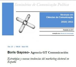 Seminario de Comunicación Política en la U.Porto