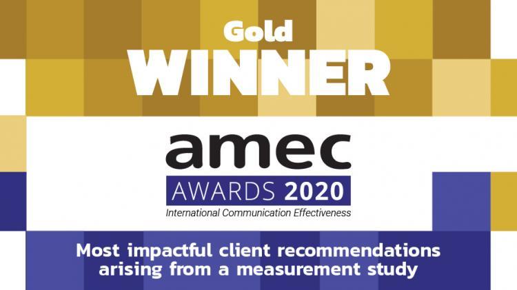 CECUBO group y Bankia premiadas con un oro en los AMEC AWARDS 2020