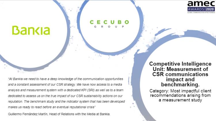 CECUBO group y Bankia finalistas tercer ano consecutivo de los AMEC AWARDS